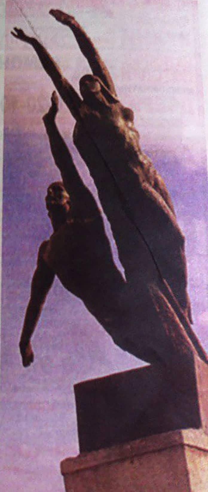 Скульптура «Покорение космоса» вБелово